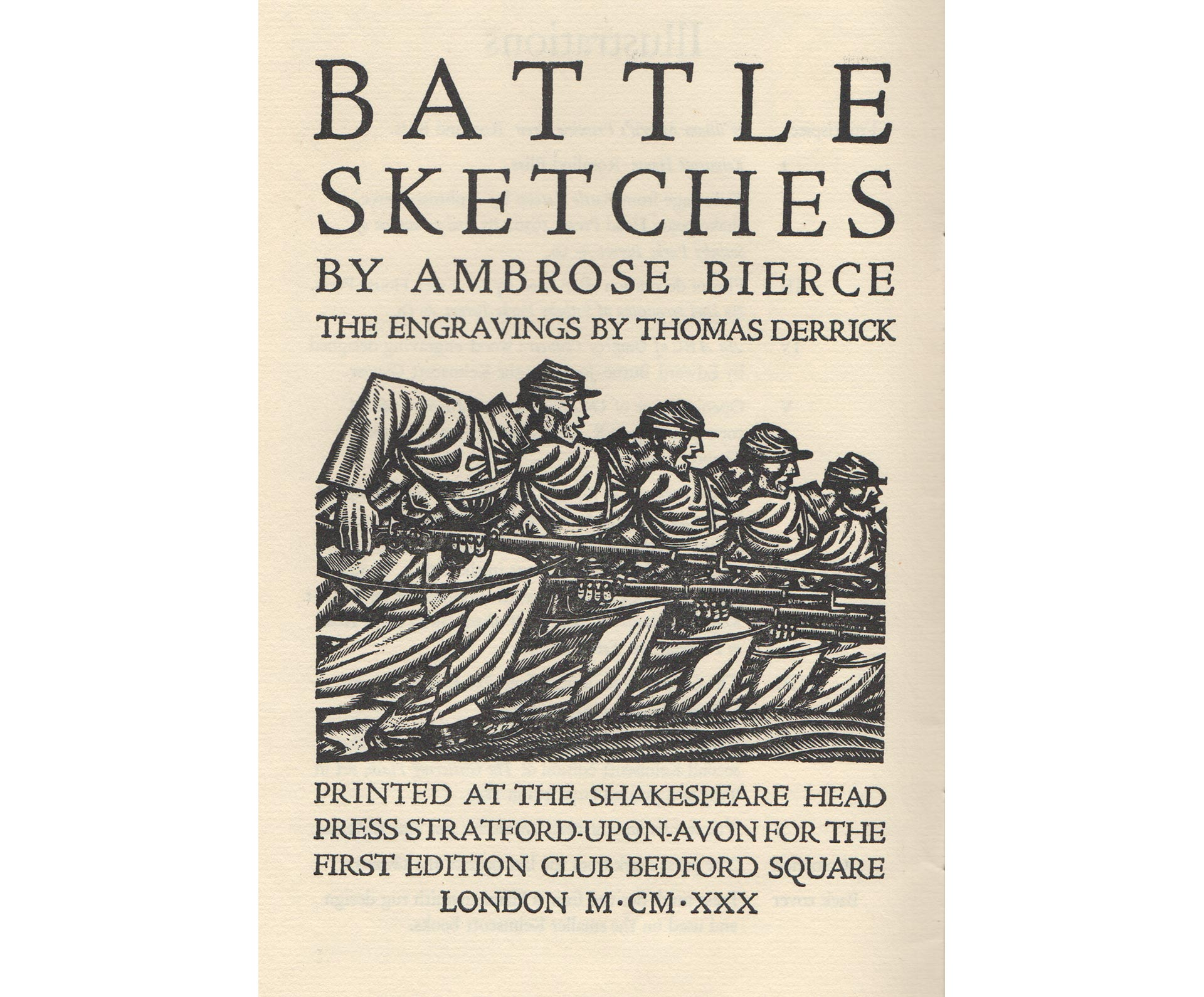 Title page of Battle Sketches designed by Bernard Newdigate